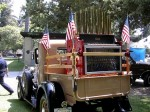 Jim Costantian's Model A pick-up with antique calliope participates in Sierra Madre's 1999 4th of July festivities, News Net file photo