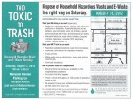 Household Hazardous Waste and E-Waste Roundup This Saturday