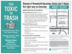 Household Hazardous Waste and E-Waste Roundup This Saturday