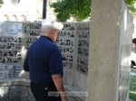 Quarter Master Ted Evans checks out the newly unveiled veterans on the wall