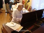 Eunis Banis entertained on piano prior to the breakfast