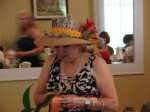 The opportunity drawing included a money hat decorated by Carolyn Harper, sported by Elma Flores