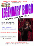 Legendary Bingo Fundraiser for SMRFA TONIGHT!