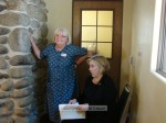 Senior Commissioner Amy Putnam and Mayor Nancy Walsh