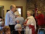 Council member Chris Koerber chats with Judy Webb-Martin