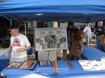 Dr. White sets up the Trail Race history booth