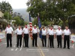 VFW Post 3208, recently named Grand Marshal of the 4th of July parade, gets ready to present colors