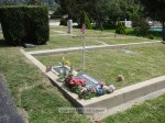 Veterans were remembered with flags by their headstones