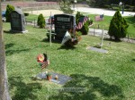 Headstone for WWII veteran Lee Cline, who passed away in August