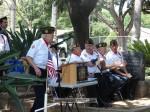 Korean War veteran Bud Switzer gets ready to join his fellow veterans