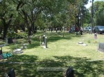 Following the ceremony, lots of folks visited friends and family buried in the cemetery