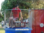 Council member John Harabedian took a turn in the dunk tank