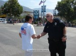 City College president Bill Sullivan greets SM Police Chief Larry Giannone