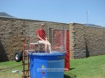 City staffer Kyle Schnurr took a turn in the dunk tank