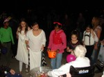 Donna Mae Switzer hands out candy