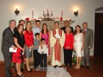 St. Rita couples pose with Msgr. Krekelberg