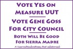Editorial - Vote Gene Goss for City Council, And Yes on UUT