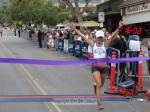 Mireya Vargas, 1st place woman, 18th overall, Pasadena, bib no. 12, 1:16:01