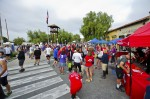 Kersting Court will be filled with vendors to keep you occupied while the runners are on the hill, photo courtesy of City of Sierra Madre, click to enlarge