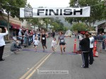 Karen Moran, Sierra Madre, bib no. 14, 1:48:14; Marianne Siberell, Sierra Madre, bib no. 19, 1:48:14, and the Moran twins
