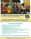Senior Community Commission to Host Senior Health Screenings