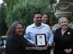 CM Aguilar, Public Service Award winner Jose Reynoso, MC Guzman, Mayor Walsh