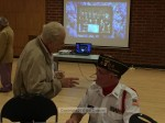 Past COTY and VFW member Bud Switzer chats with a fellow VFW member