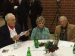 WWII veterans Gordon Caldwell and Ken Anhalt bookend Shirley Anhalt