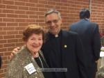 Past COTY Marilyn McKernan with Monsignor Krekelberg