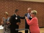 Teri Loera, Chamber Pres. Ed Chen, Council member Gene Goss, Chamber Board member Carol Canterbury