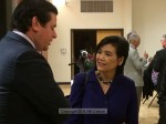 Mayor John Harabedian chats with Congresswoman Judy Chu