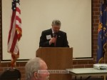 Duncan MacGillvray speaks on behalf of the VFW