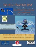 Rotary Club, City to Celebrate World Water Day Saturday, March 21