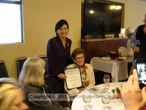 Congresswoman Judy Chu and SM Older American 2015 Laurie Cooper, click to enlarge