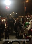 The line for Santa included parents and grandparents, as well as the kids