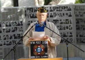 Gordon Caldwell, Veteran's Day 2008